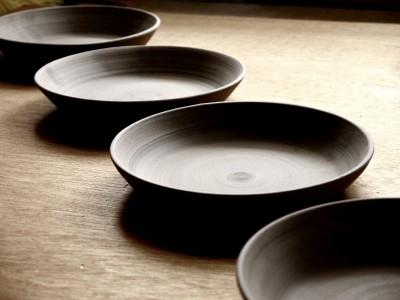 皿 乾燥中