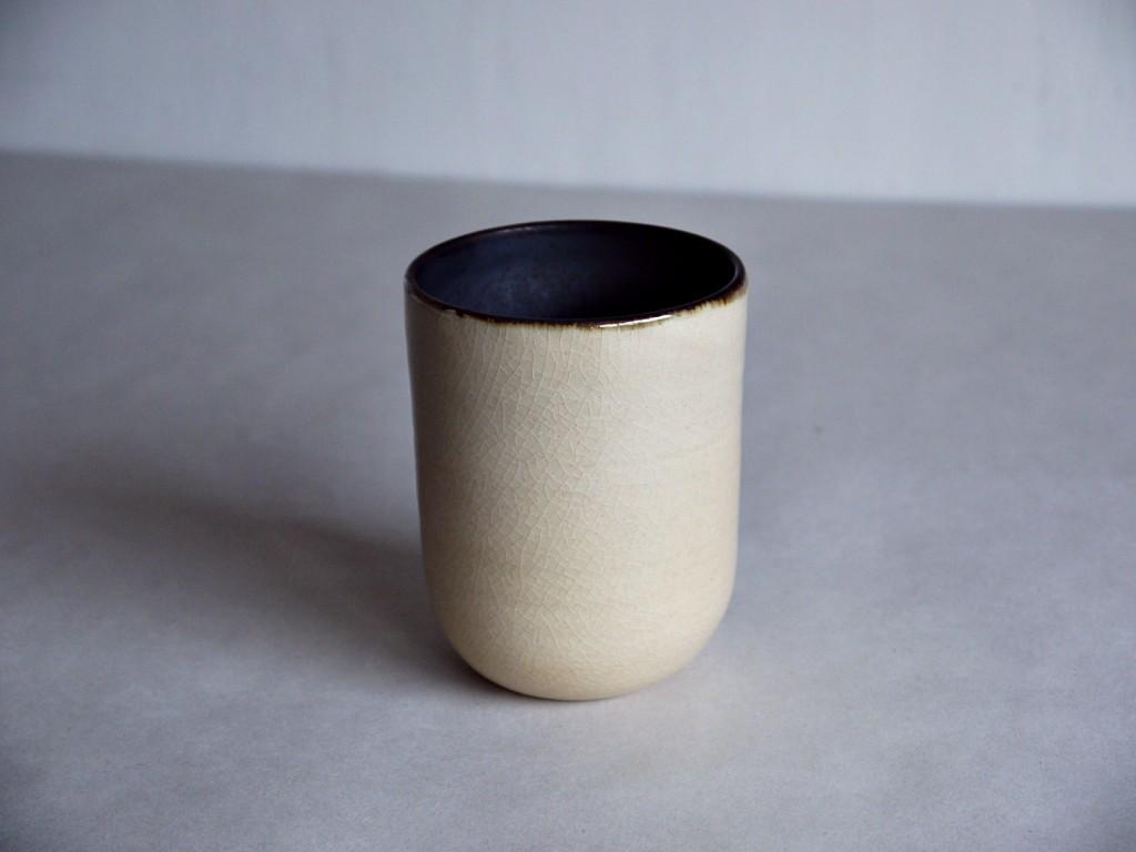 鉄黒釉掛け分けフリーカップ