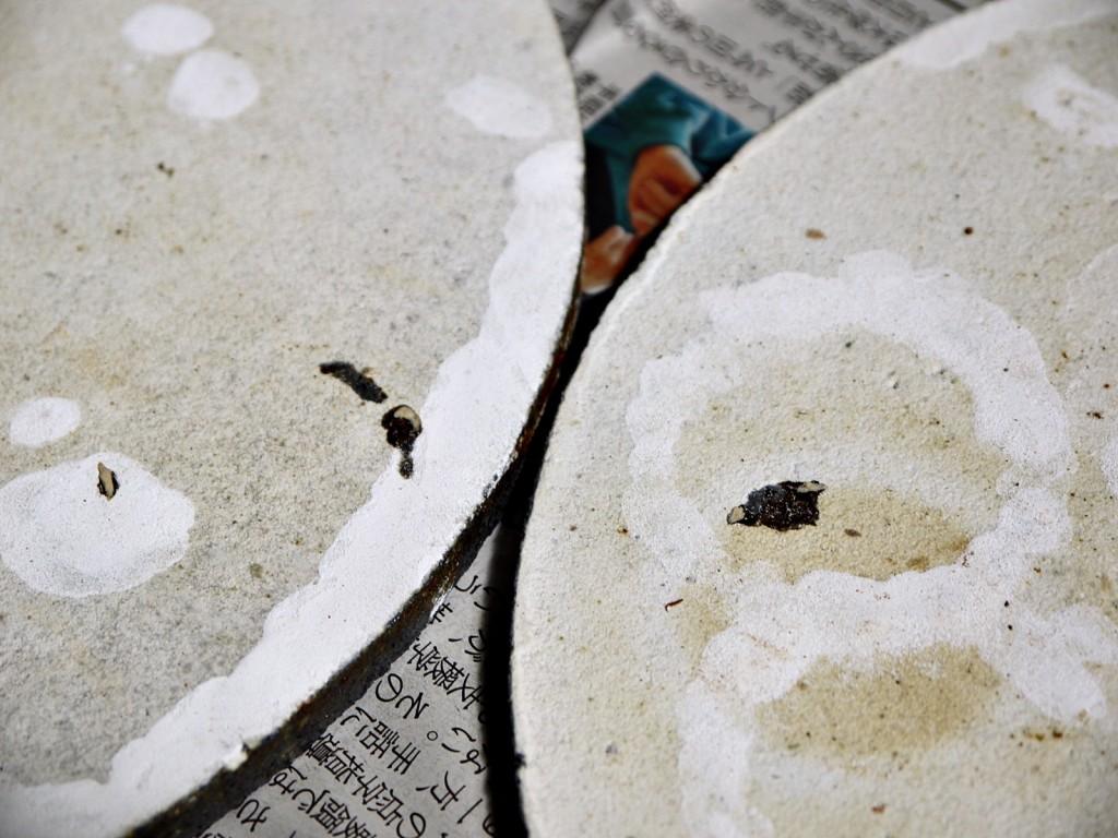 陶芸 棚板の補修