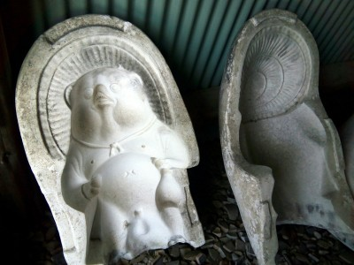 信楽 タヌキ 石膏型