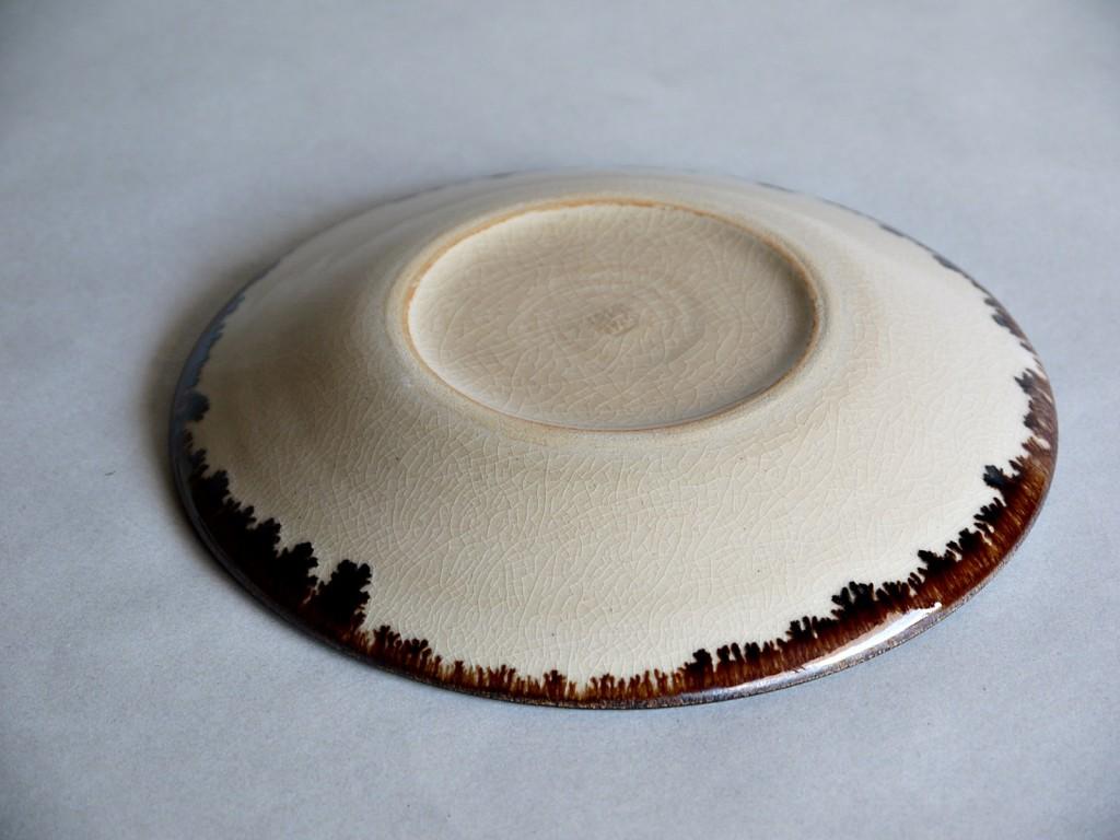 褐色滲み皿