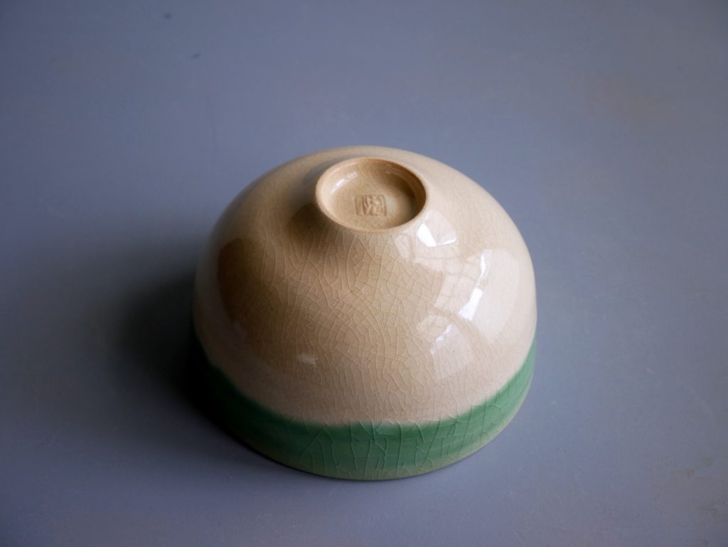 緑釉縁掛け茶碗